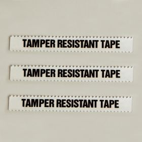 """Tamper Resistant Tape, Clear, 1/2""""W x 108'"""