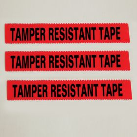"""Tamper Resistant Tape, Red, 1""""W x 108'"""