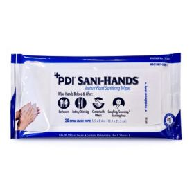 Hand Sanitizing Wipe Sani-Hands 20 Count Ethyl Alcohol Wipe Soft Pack