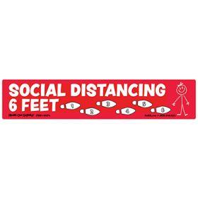 Social Distancing Floor Marker Red