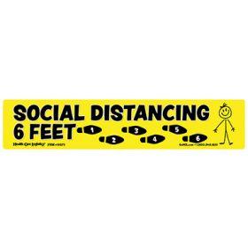 Social Distancing Floor Marker  Yellow