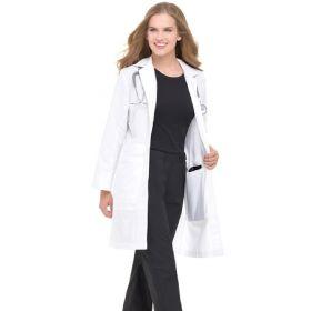 Lab Coat White Size 8 Knee Length Reusable v
