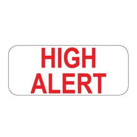High Alert Labels - 1-1/2In W x 5/8In H