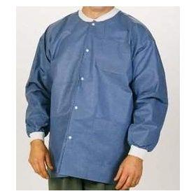 Lab Jacket ValuMax Extra-Safe Blue Medium Hip Length Limited Reuse