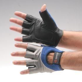 Impact Glove IMPACTO Half Finger 2X-Large Black / Blue / Gray Hand Specific Pair