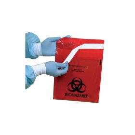 "Red Stick-on Bag, 12"" x 14"", 2-3/5 qt., 100/bx"