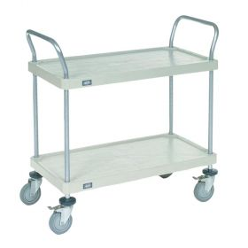 Nexel  Solid Plastic Shelf Utility Cart