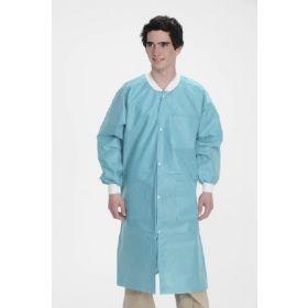 Lab Coat ValuMax Extra-Safe Teal 4X-Large Knee Length Limited Reuse