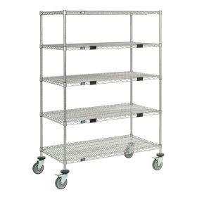 Nexel  Wire Shelf Exchange Cart with 5 Open Shelves