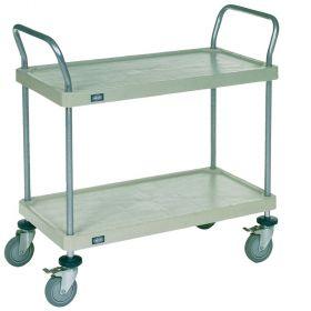 Nexel  Solid Plastic Shelf Utility Carts