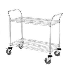 Wire Utility Cart, 2-Shelf