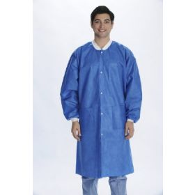 Lab Coat ValuMax Extra Safe Deep Sea Blue twoX Large Knee Length Limited Reuse 9742772XL