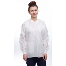Lab Jacket ValuMax Easy-Breathe White Small Hip Length Limited Reuse