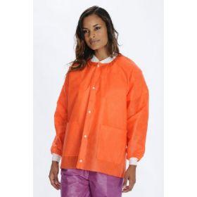 Lab Jacket ValuMax Extra-Safe Orange Small Hip Length Limited Reuse