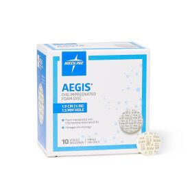 "Aegis CHG-Impregnated 0.75"" Foam Disk Peel-Open Dressing with 1.5 mm Hole"