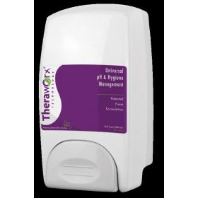 Theraworx Body Wash Dispenser with Push Bar, White, Wall Mount, 1000 mL
