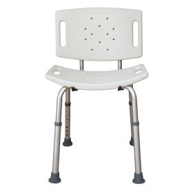 Essential Medical Supply B3003-S Deluxe Shower Bench-Back/White