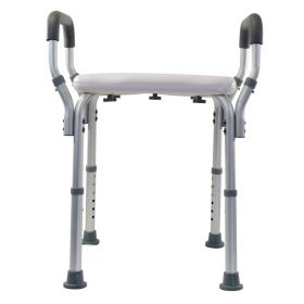Essential Medical B3010 Adujstable Molded Shower Bench with Arms