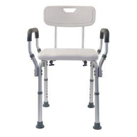 Essential Medical B3011 Adjustable Molded Shower Bench w/ Arms & Back