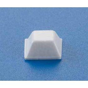 Bump Dot Square Flat Top Medium White