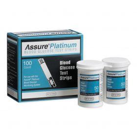 Assure Platinum Blood Glucose Test Strips, 100/Bx CMD500100Z