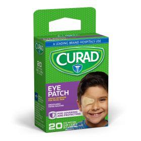 "CURAD Adhesive Eye Patch, 2.25"" x 3.12"", Beige"