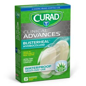 Blisterheal Hydrocolloid Bandages, Assorted Sizes, 6/Box
