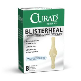 """CURAD Blister heal Hydrocolloid Bandages, Fingers and Toes, 0.75"""" x 2.875"""", 8/Box"""