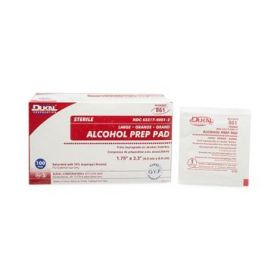 Sterile 2-Ply Alcohol Prep Pads, Large