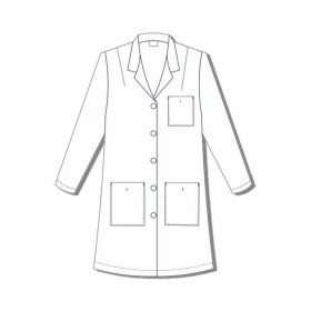 Lab Coat, Princess Style, Women's, Bust 40.5, Size 16
