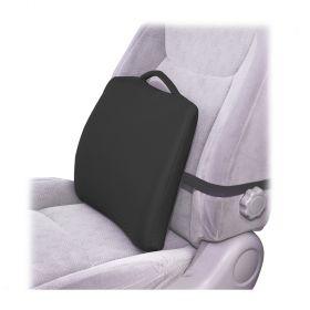Essential Medical F1413BK Lumbar Cushion w/ Elastic Strap-Black Cover