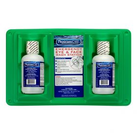 Eye Wash Station with Two 16 oz. Solution Bottles