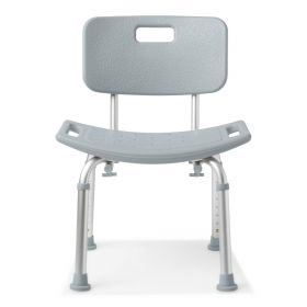 Aluminum Bath Bench with Back, Retail Packaging