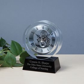 Quartz Skeleton Table Clock, Personalized