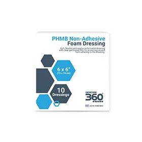 "PHMB Foam Dressing, Non-Border, 6"" x 6"""
