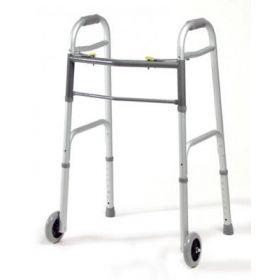 """Dual-Release Folding Walker, 5"""" Wheels, Adult"""