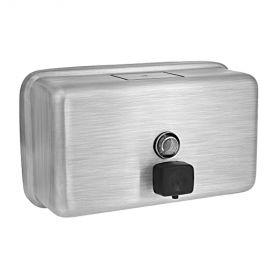 Genuine Joe Stainless Steel Liquid Soap Dispenser,Horizontal,1185 mL - GJO85146