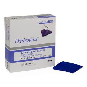 "Hydrofera Blue Heavy Drainage Foam Dressing, 6"" x 6"" x 3/4"" Thick"