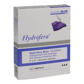 """Hydrofera Blue Classic Foam Dressing with Moisture-Retentive Film, 4"""" x 4"""""""