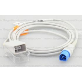 LNC MP-10 Philips Dual Keyed Extension Cable with SpO2 Sensor, 10'