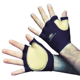Impact Glove IMPACTO Fingerless Large Black / Tan Hand Specific Pair
