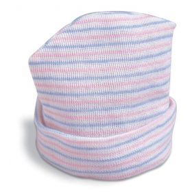 Life Trace Baby Beanie, 2 Ply, Pink and Blue