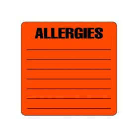 Chart Label - Allergies L-2051