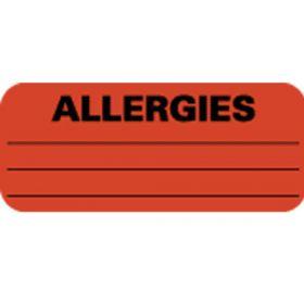 Chart Label - Allergies L-2064N