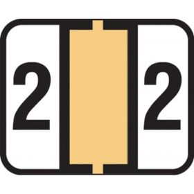 End Tab Numeric Filing Label - 2
