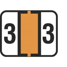 End Tab Numeric Filing Label - 3