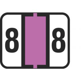 End Tab Numeric Filing Label - 8