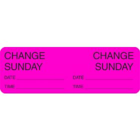 Label - Change Day - Sunday