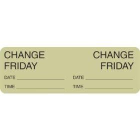 Label - Change Day - Friday