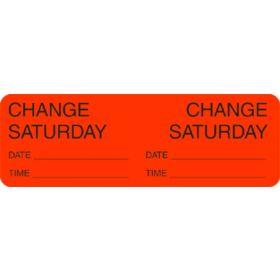 Label - Change Day - Saturday
